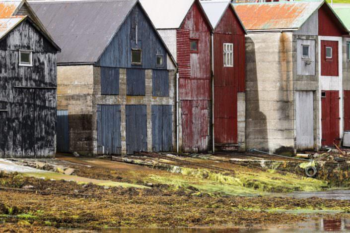 Boat cabins Torshavn Faroe Islands June 2017