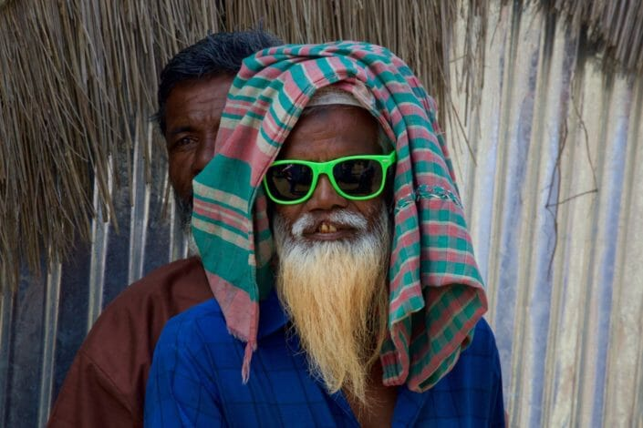 Man after cataract surgery