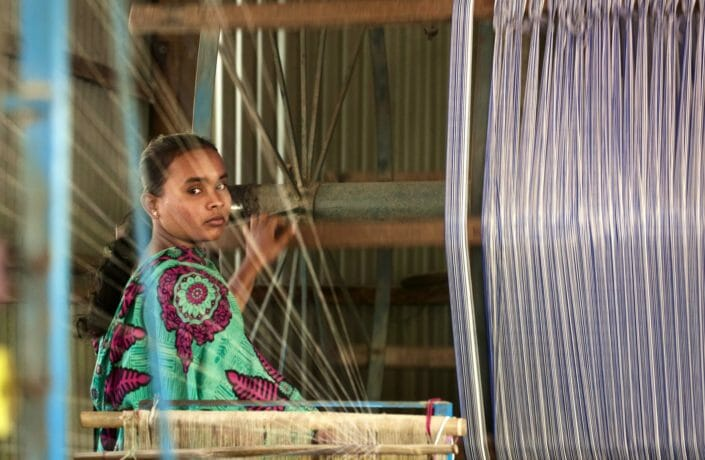 Look from a girl weaving Bangladesh 13-11-2015